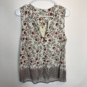 Lucky Brand Womens Tank Top Small Floral